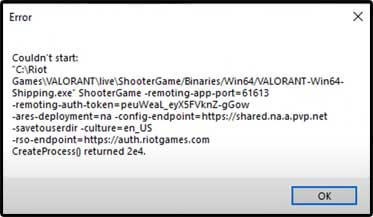 Roblox Player Launcher Failed Valorant How To Fix Couldn T Start Error Caffeinatedgamer
